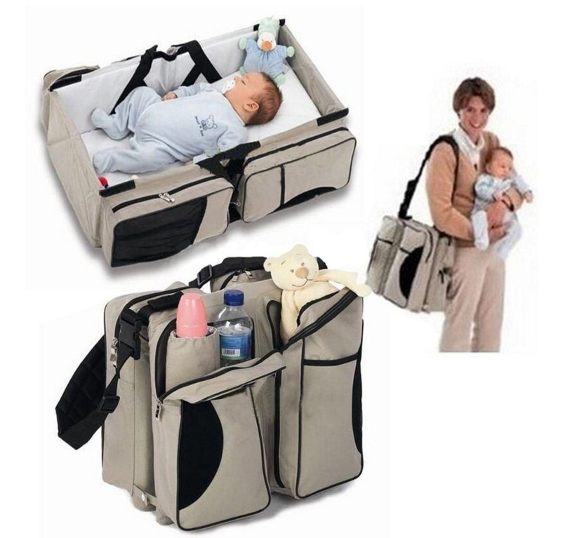 Multifunction Personal Microfiber Foldable Diaper Bag Baby Travel Bed