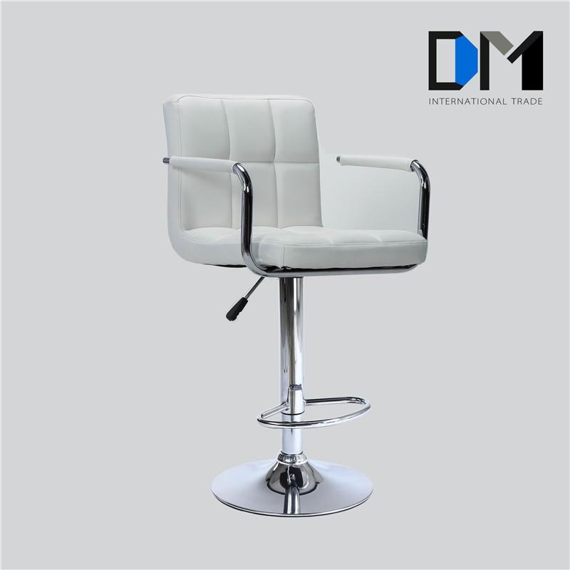 Customized Cheaper Price bar stool high chair Lift bar stool white/bar stool chair With Armrest