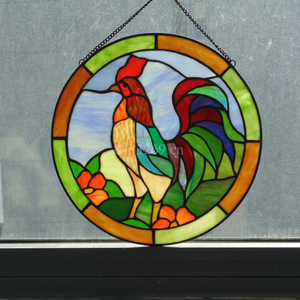 Classical European glass windows made by hand in tiffany style glass panel