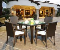 Outdoor Rattan Table and Chairs for Coffee Shop