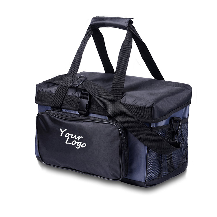 Custom Logo Picnic Ice Freezer Travel Cooler Bag Food Delivery With Durable Nylon