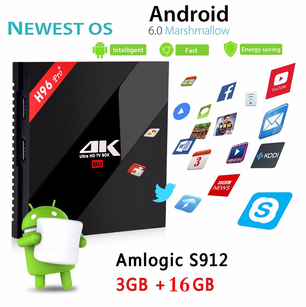 Royal Iptv Arabic French Europe H96 Pro Plus Amlogic S912 Octa Core 3g/16g  Android 6 0 Wifi Bt4 2 4g/5 8g H 265 4k Tv Box - Buy Android 6 0 Tv Box,H96