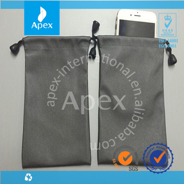 Drawstring Fabric Polyester Bag Cell Phone Mobile bag