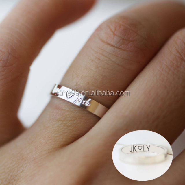 Valentines Ring With Custom Engraving On The Outside And Inside Wedding Jewelry