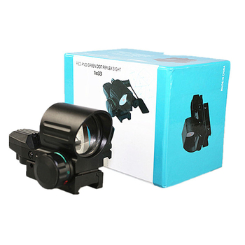 SPINA OPTICS HD Tactical 4 Type Reticle Reflex Red Green Dot Sight Scope 21mm Rail mount