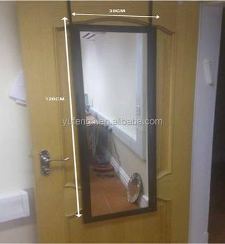 30x120cm Black Plastic Framed Door Mirror With Metal Bracket Include Over  Door Mirror