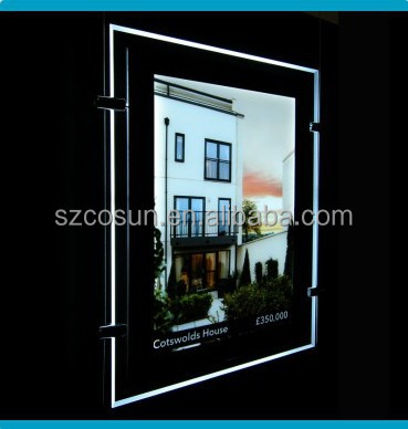 Metro Magnetic Crystal Slim Ultra Thin LED Lightbox window display For Advertising