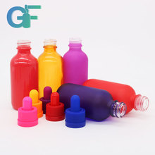2oz glass frosted bottle with e-liquid child proof dropper