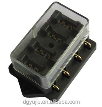 4 way terminals circuit car auto boat blade fuse box