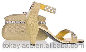 and shoes heeled High color Gold bags matching IZqfx