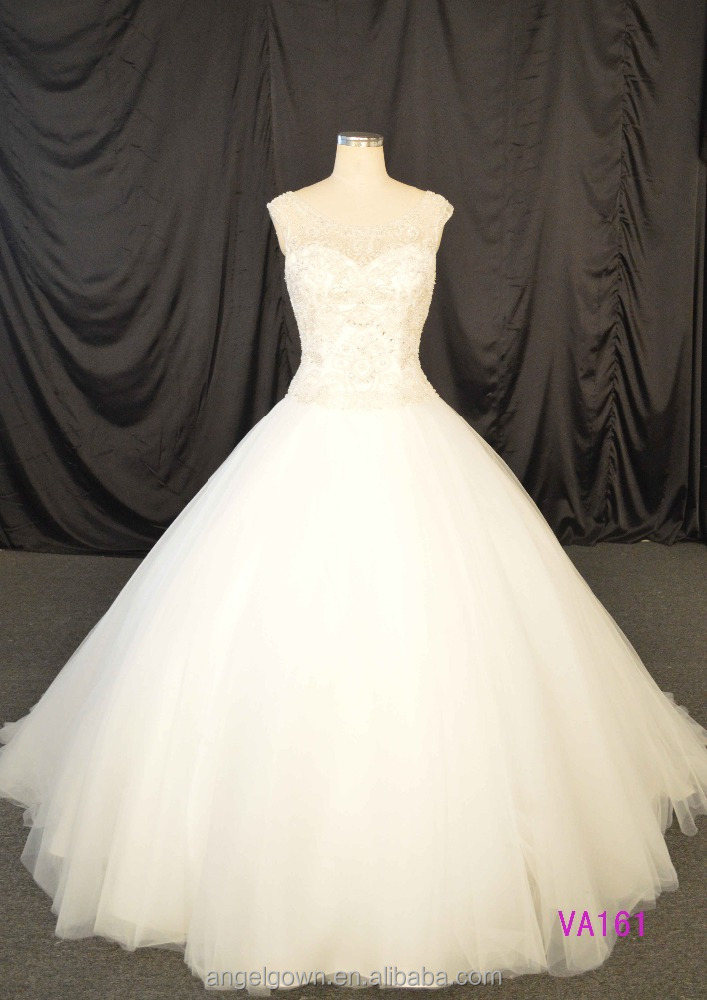 Shiny crystal ball gown style princess wedding dresses strapless patterns 2014 luxury pearl white tulle ball gown bridal