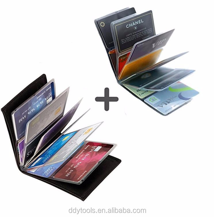 24 cards flexible design as seen on tv factory wholesale black wonder wallet