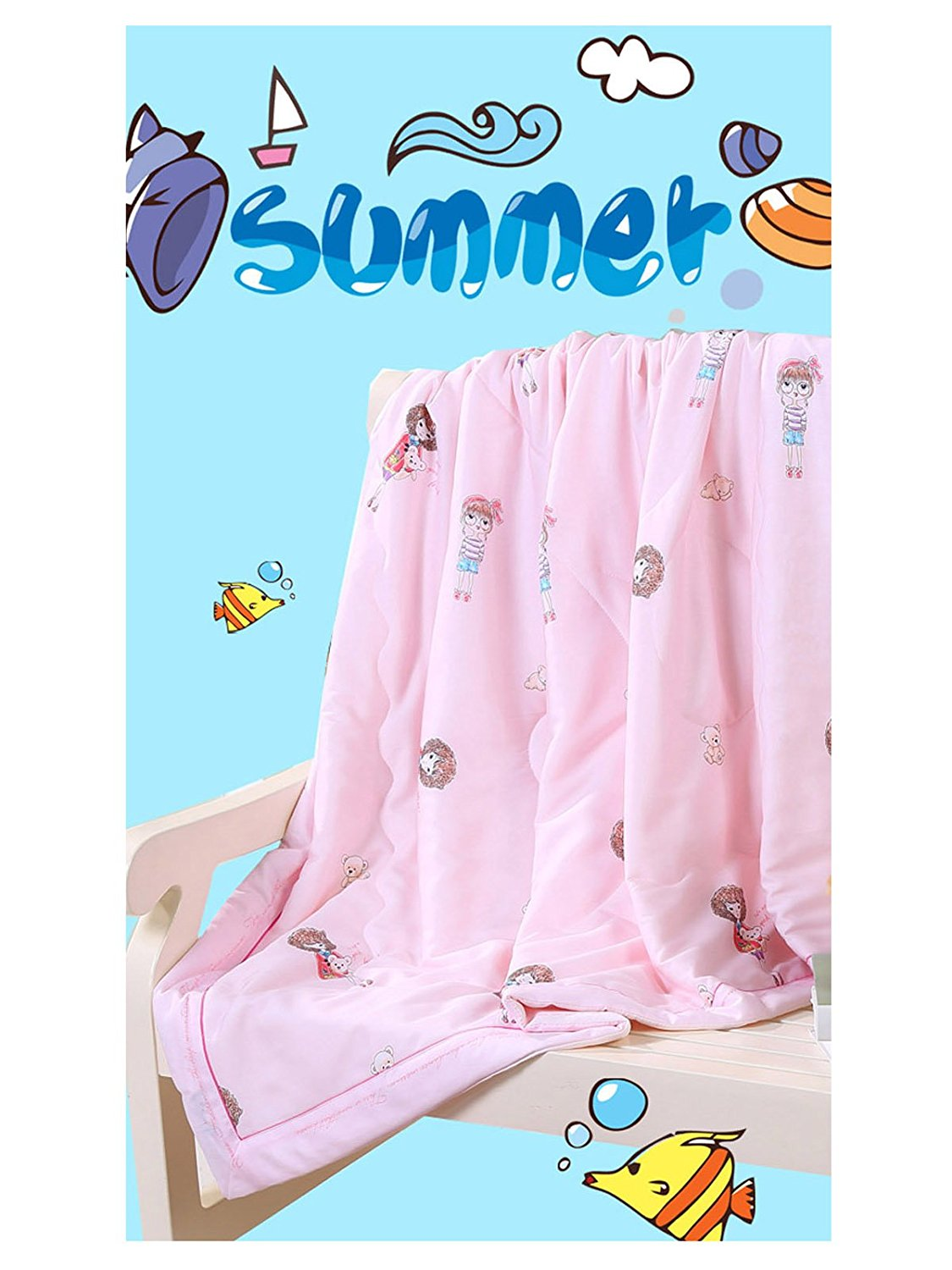 WJL Thin Quilt for Summer,Lightweight Comforter Nap Quilt for Baby Boys or Baby Girls,Incredibly Comfortable and Soft