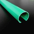 58 MM half circle plastic extruding GREEN COLOR PVC PIPE COVER