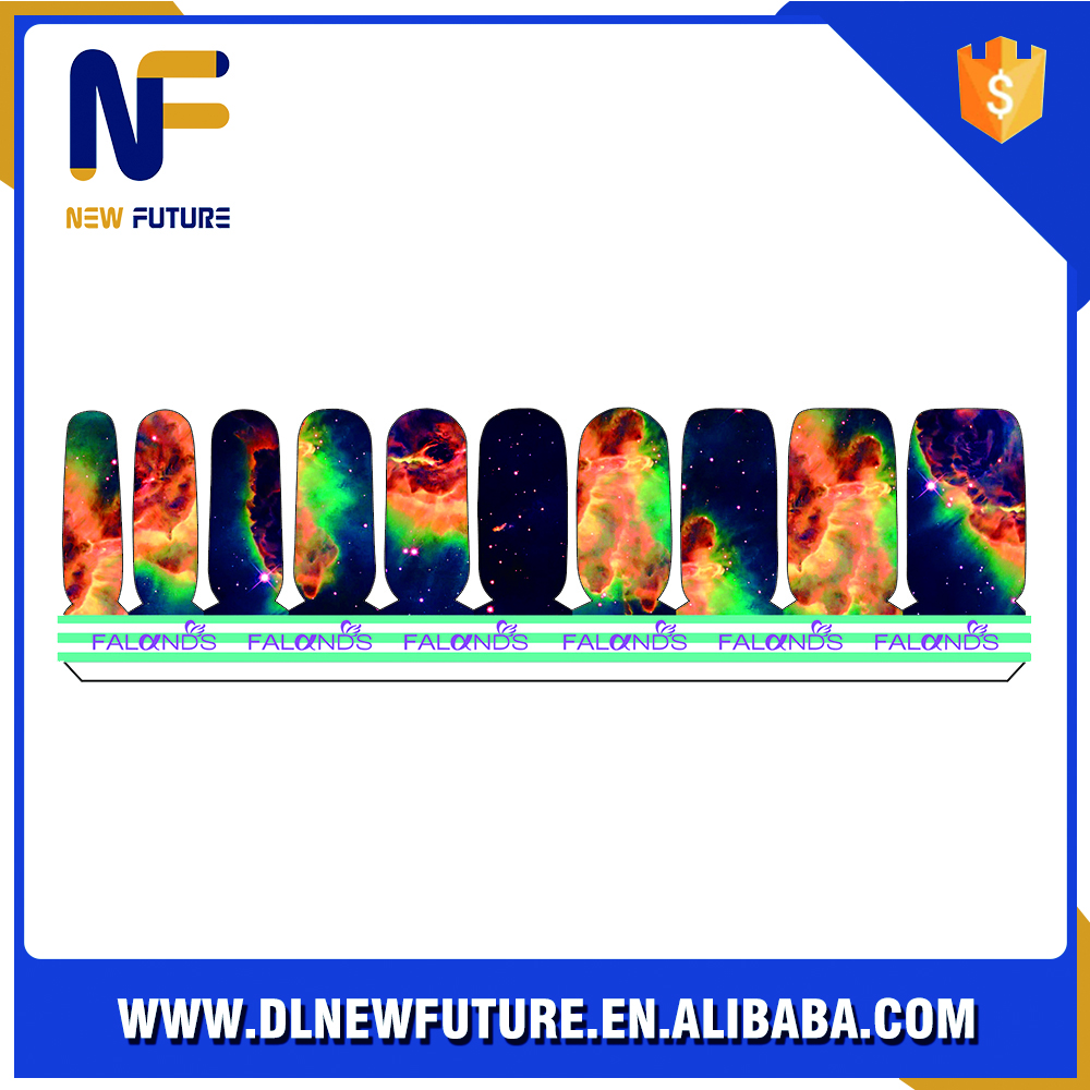 Custom Original good-looking Grace Adhesive metal label nail sticker
