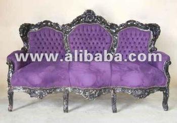 Sofa Silver Baroque Furniture Neo Rococo Modern