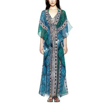 731e128205 Indio tipo mujeres vestido de verano de impresión vestido Ropa Étnica