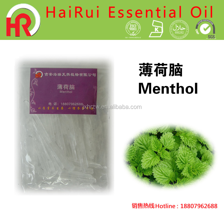 New Arrival Mentha Piperita Best Menthol Crystal in Cigarettes Natural Flavour & Fragrances Type