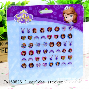 Good quality custom pvc sticker paper on earlobe promotional item