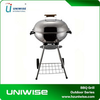 17'' Factory Price Stainless Steel Trolley BBQ Grill In Weber Style