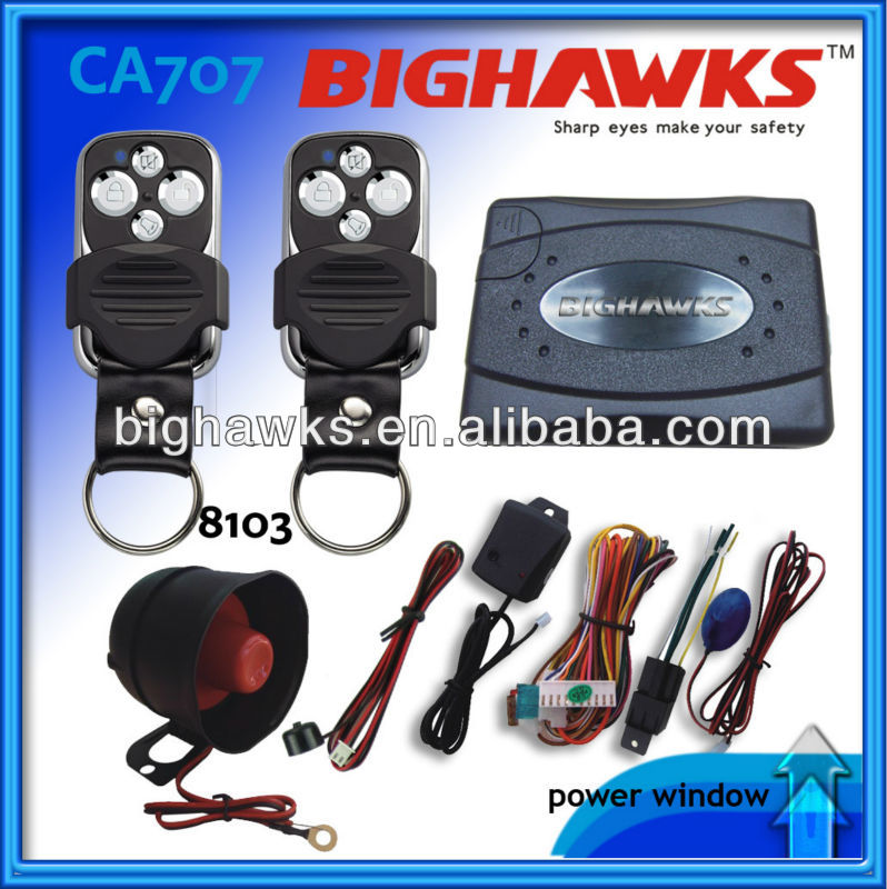 One Way Car Alarm Spy Ca707-8103 Bighawks Auto Alarm System ...