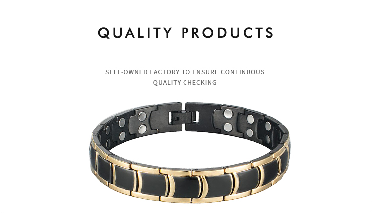 Shenzhen Migaga Healthy Energy 316L Stainless Steel Full Magnets Or 4 In 1 Accept Custom Colors Bangle Bracelet