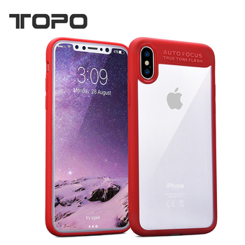 bcaa11a6c5 High Clear silicon soft TPU frame bumper Hard PC back cover case For iphone  X 7