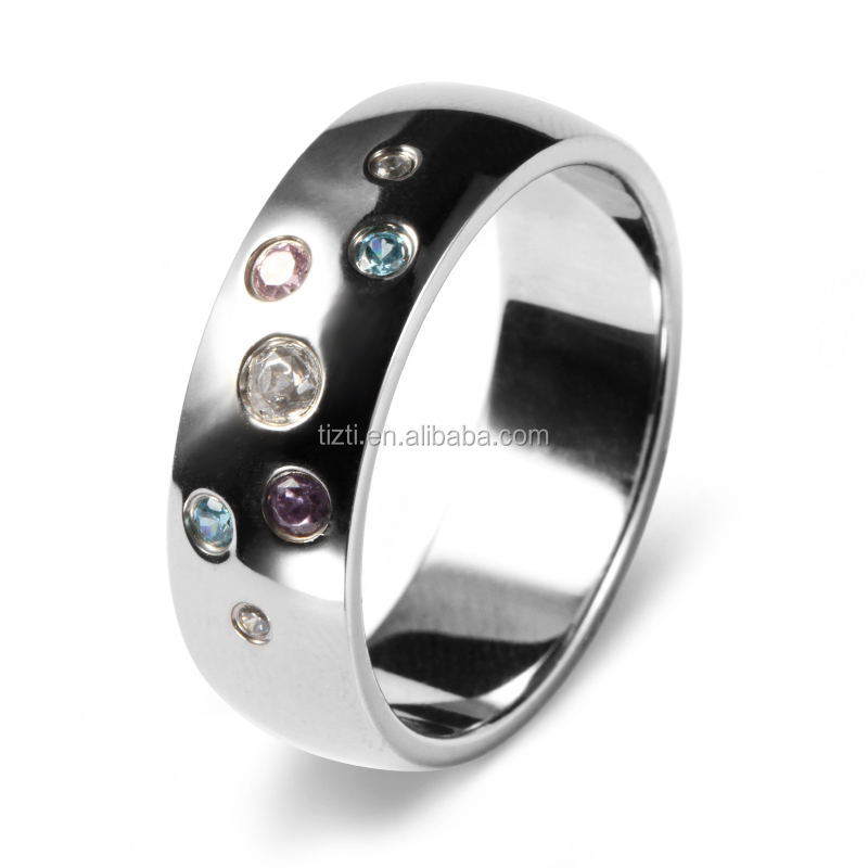 Valentine's ring fashion rainbow moonstone engagement rings with cz