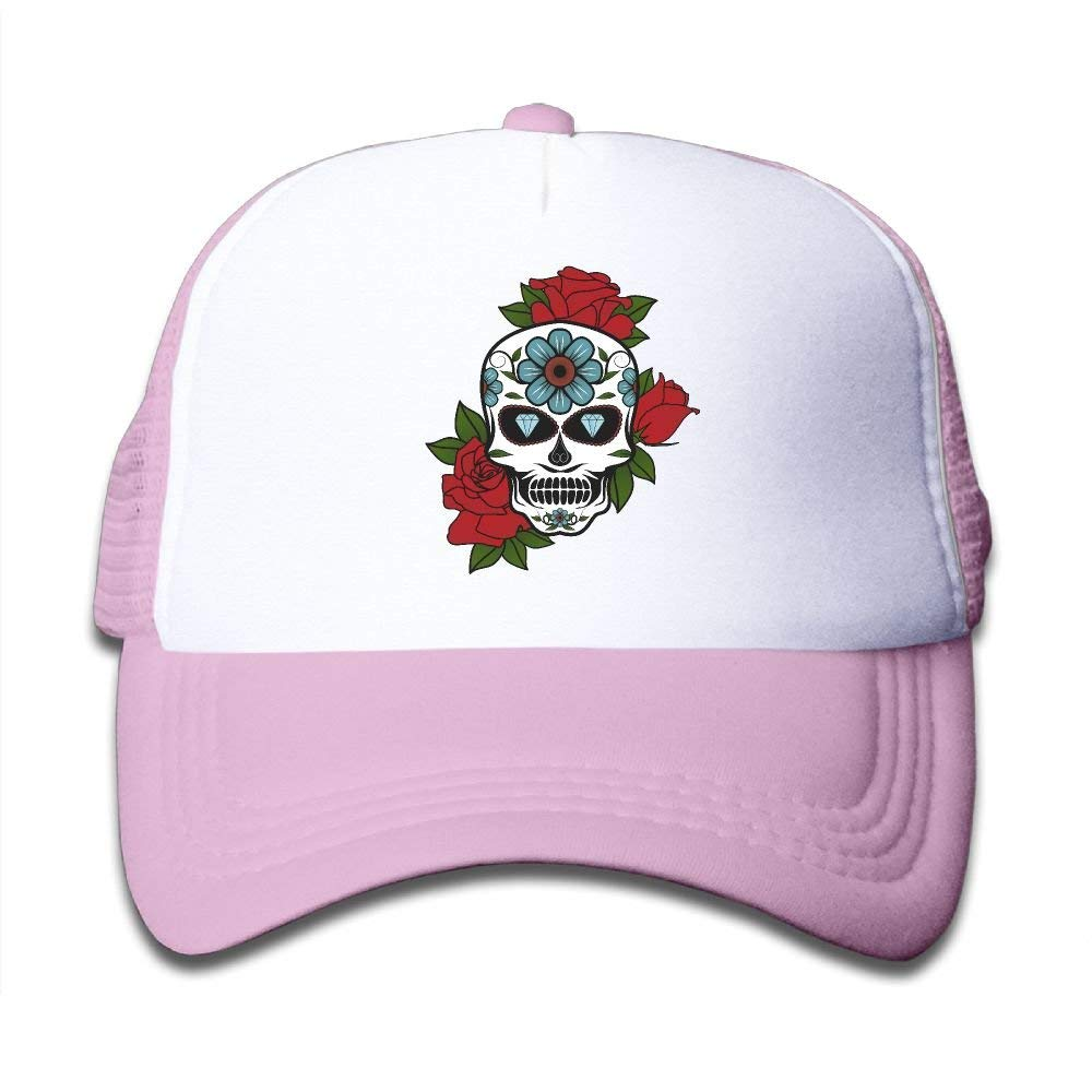 a0553f0f31e Get Quotations · SDRG5 Funny Cool Skull Child Baby Kid Mesh Caps Adjustable Trucker  Hats Summer Snapback