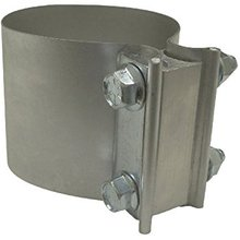 "Aluminized Steel 5"" Preformed Lap Joint Exhaust Pipe Clamp"