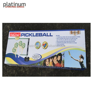 Easy Set-up Pickleball Net Set (with Balls & Paddles )