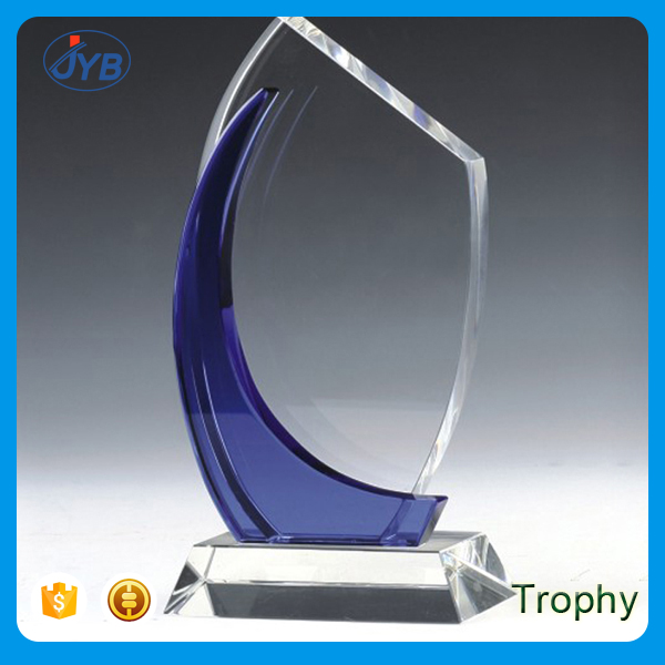 Custom 10'' Glass Cube Block Creative Design Glass Trophy Awards for Business