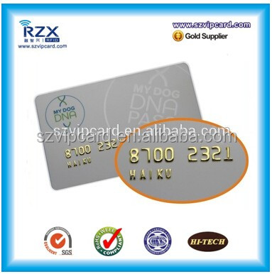 Luxury Gold Embossed Number Plastic Loyalty / Membership Card
