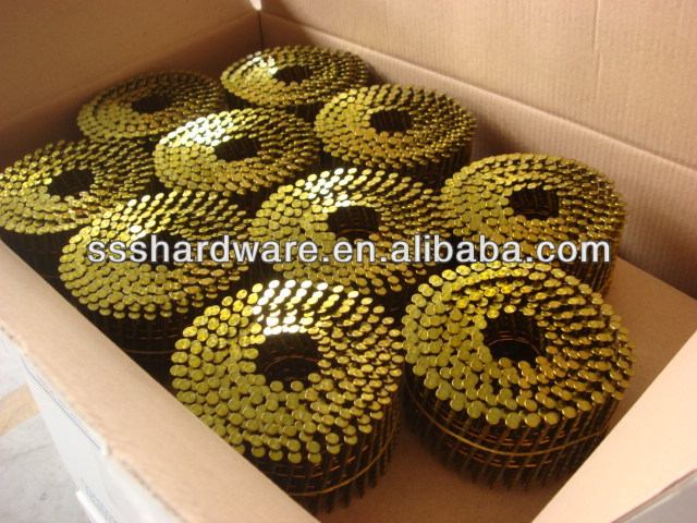 pallet coil nail annular wire coil collated nails(factory)