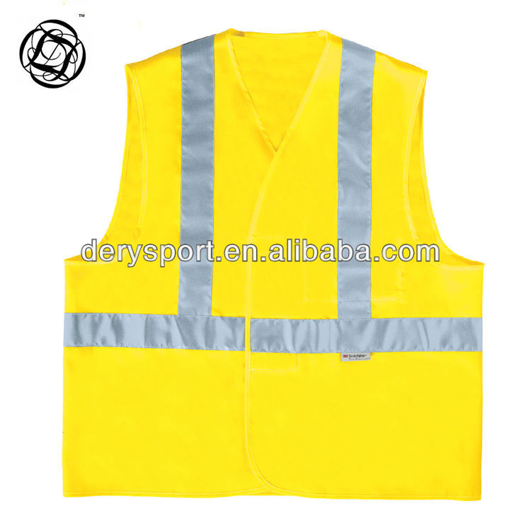 High quality industry safety vest with reflective band in polyester material cheap price