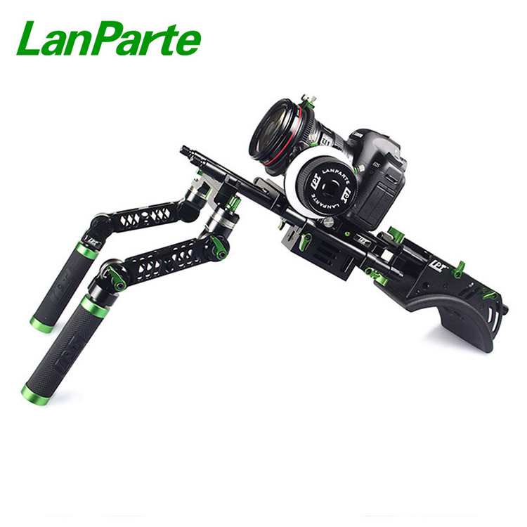 Lanparte universal shoulder support DSLR camera complete rig AB stop follow focus