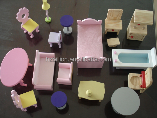 "Funny Modern Wholesale clolorful Wood 18"" Mini Soft Doll Furniture / cabinet furniture"