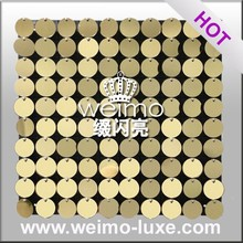 <span class=keywords><strong>Shimmer</strong></span> PVC Muur Sequin Tegel Voor Wall