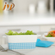 Dinnerware type ceramic casserole serving dish with silicone lid