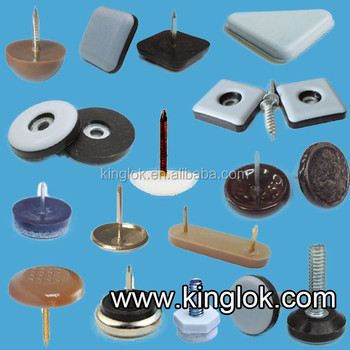 Plastic Furniture Glides For Chairs Nail In Teflon Chair Glides Plastic Nail  Glide With Felt For