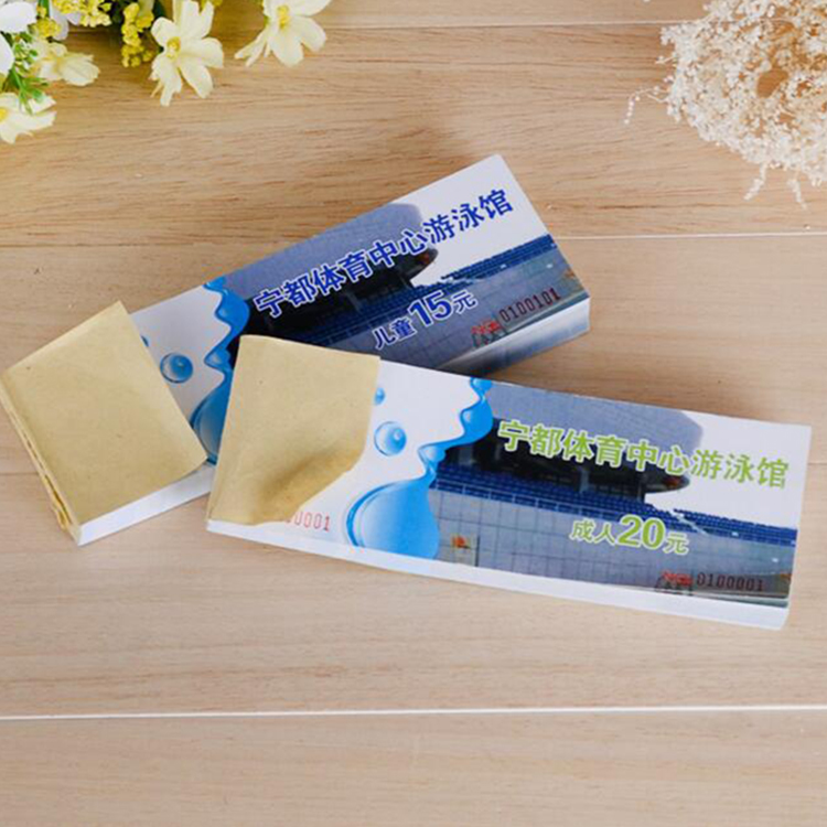 Guangzhou factory custom printing tourism entrance ticket invoice books and bill receipt book printing supplier