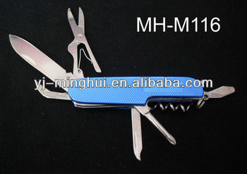 Multi color pocket knife with aluminium handle