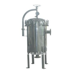 Professional Equipment Stainless Steel Multi Bag FIlter With Gas Pressure Meter