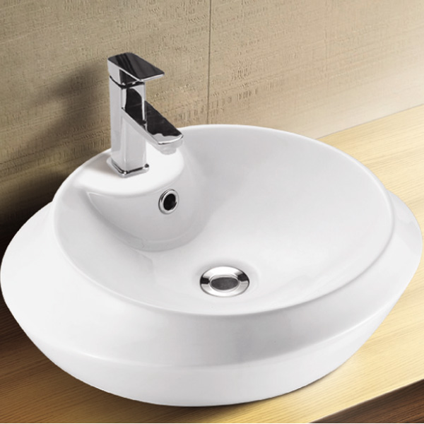 Above Counter Installation Type Bathroom Vessel Bowls Oval Basin Shape Sink Wash Bowl Product On
