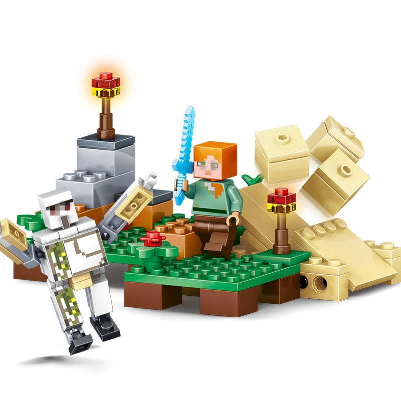 UKLego Minecraft Sword Espada Models Figures Building Blocks Model toy set.
