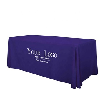 Wholesale Personalized Custom 6 ft Fitted Table Cloth With Your Own Logo