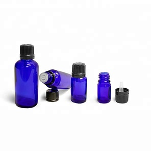5ml 10ml 15ml 20ml 30ml 50ml 100ml glass cobalt blue essential oil bottles