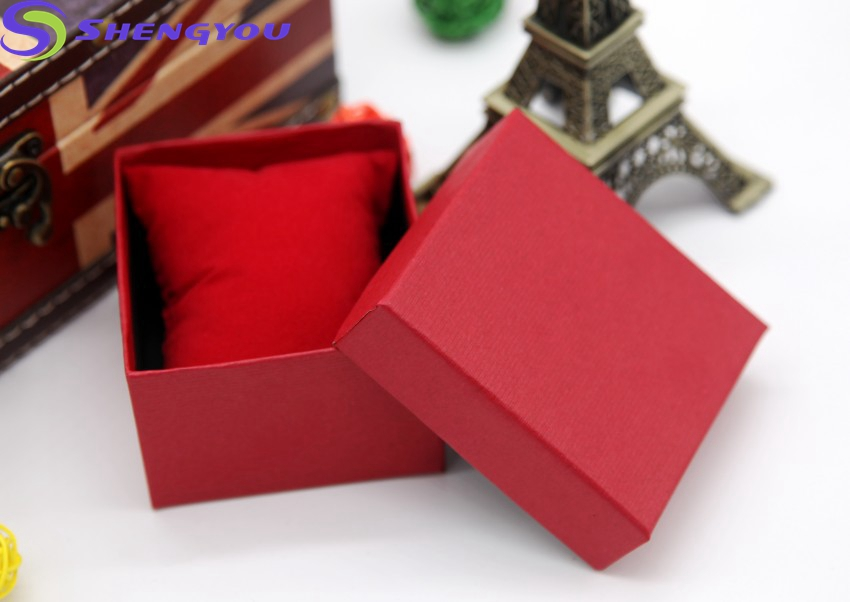 Custom Logo Packing Jewelry Red Packaging Bracelet & Watch Box