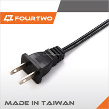 Made in Taiwan high quality low price retractable power cord reel,ac power cord cable 220v,2 pin ac power cord plug