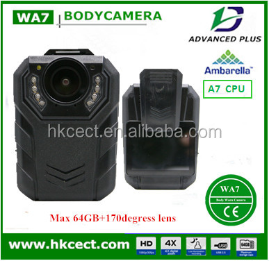 3g police wearable camera with real time software external cam 64GB memory dock station